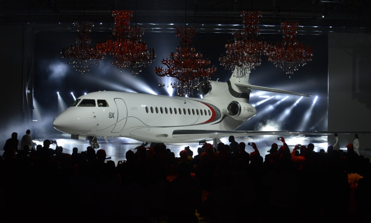 Dassault Aviation Reveals First Falcon 8X