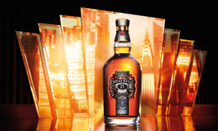 Finest Scotch whiskies Chivas 25