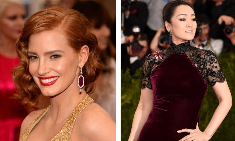 Jessica Chastain and Gong Li shine bright in Piaget jewellery at the 2015 Met Ball