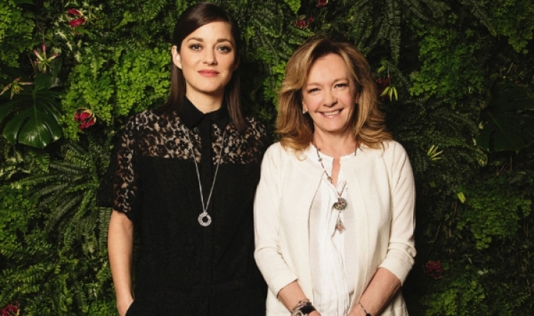 Marion Cotillard designs for the Green Carpet Collection